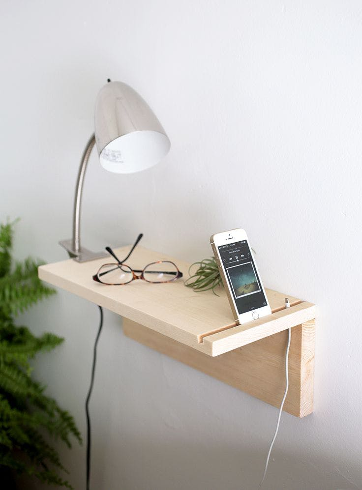 7 modernas y minimalistas ideas diy la buhardilla decoraci n - Diy mesita de noche ...