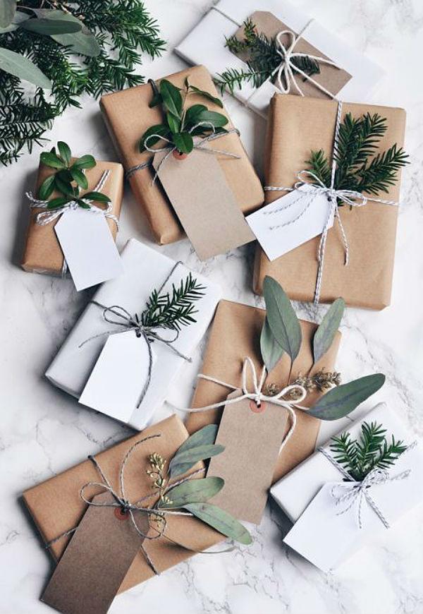 Inspiracion para envolver tus regalos con papel kraft