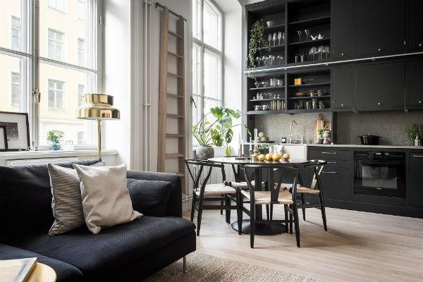Diseño masculino para un loft de estilo nordico