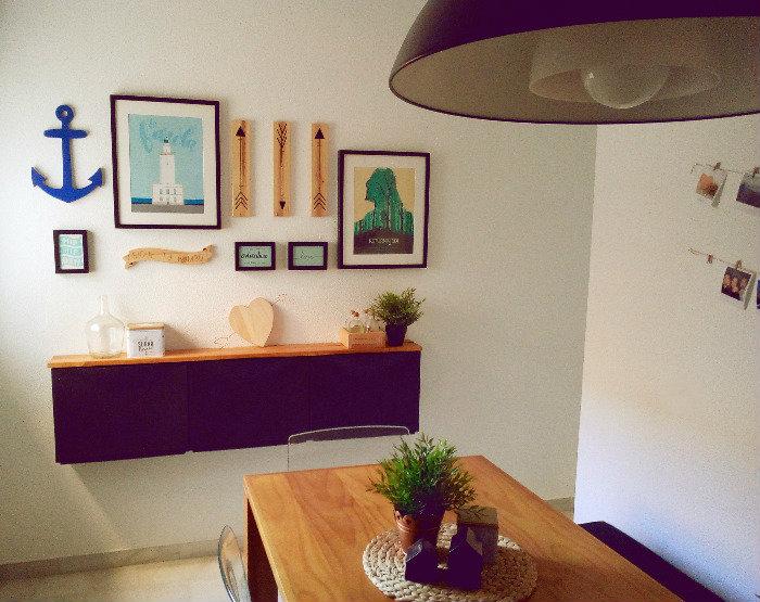 Creando una gallery wall para el comedor de mi casa