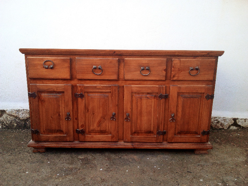 Antes y despues. Cambio de estilo para un par de muebles rusticos. Menudo cambio!